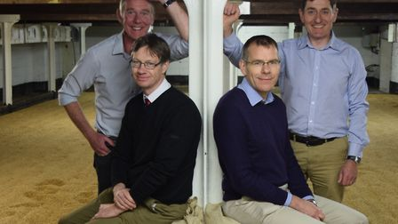 Carl Heron, Nigel Gibbons, Steve LePoindevin and Rob Moody from Crisp Maltings. Photo supplied by Ci
