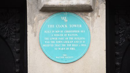 The clock is ticking again in Watton town centre, after being extensively renovated. Picture: Ian Bu
