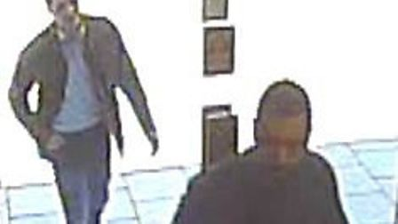 Police are appealing for help to identify two men following an incident of theft which happened in C
