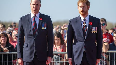 The Duke of Cambridge and Prince Harry have recently spoken out about mental health issues. Picture: