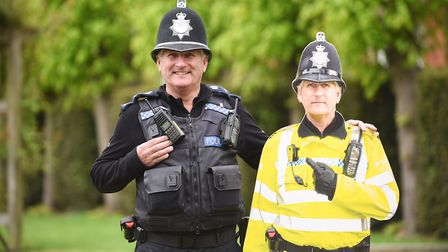 Police officer Mick Futter who is famous for being turned into a cardboard cut-out to deter shoplift