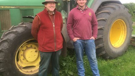 Jeremy and John Alexander at Hardwick Hall farm in Long Stratton