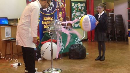 Atomic Andy at Blundeston Primary School. Picture: Courtesy of Blundeston Primary