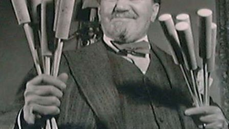 Sir Henry Wood and batons made by Palmers department store.
