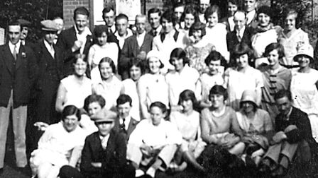 Employees of the department store Palmers gather for a group photo. Photo: Adam Scorey Copy: Maria