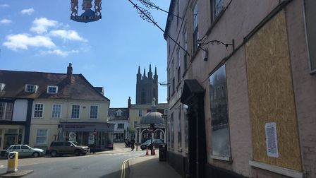 King's Head Hotel in Bungay where images displaying the history of the town have been displayed. It