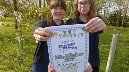 Maud Webster and Mina Mitchell-Hardy of Norwich Vegan Society. Photo: Nelson's Journey