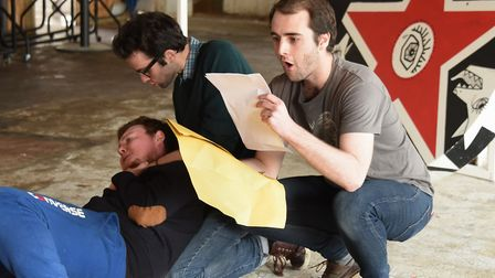 Performers from the MoCo Theatre Company during rehearsal of their first production A Clockwork Oran