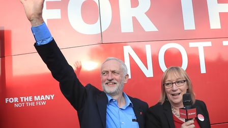EDS NOTE ALTERNATIVE CROPLabour leader Jeremy Corbyn makes a speech on the general election campai
