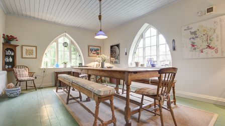 Light and airy dining space. Photo: Courtesy of Jackson-Stops & Staff