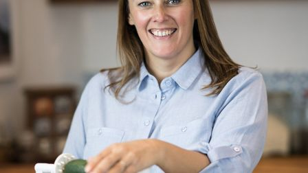 Nutritional Therapist Catherine Jeans preparing for Herb & Nutrition Workshop. Photo: The Big C