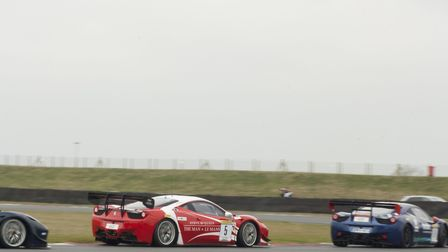 Bonamy Grimes in the opening laps of the first Britcar race (#5) at Snetterton. Picture: Ellen Tunst