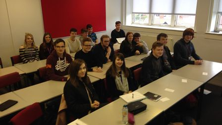 Business students at the College of West Anglia in King's Lynn discussed key issues faced by young p