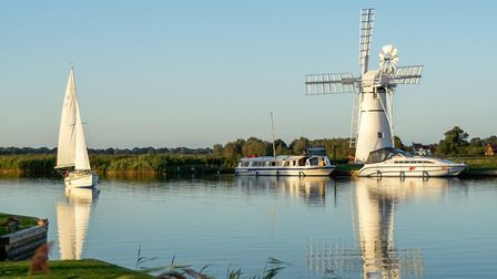 Beautiful Broads: Sailing boat on the River Thurne. Photo: Chill Photography