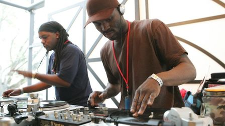 Breakin' Convention includes the chance to learn how to DJ with Sure D and DJ Chrome. Picture: Paul
