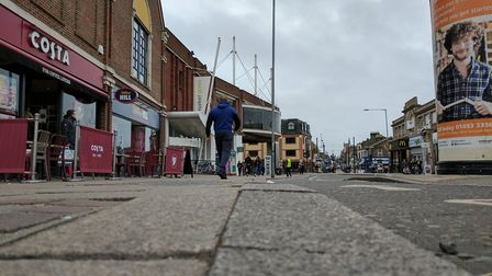 The kerb in Regent Road, Great Yarmouth, where dozens of people have tripped or fallen. Photo: Georg