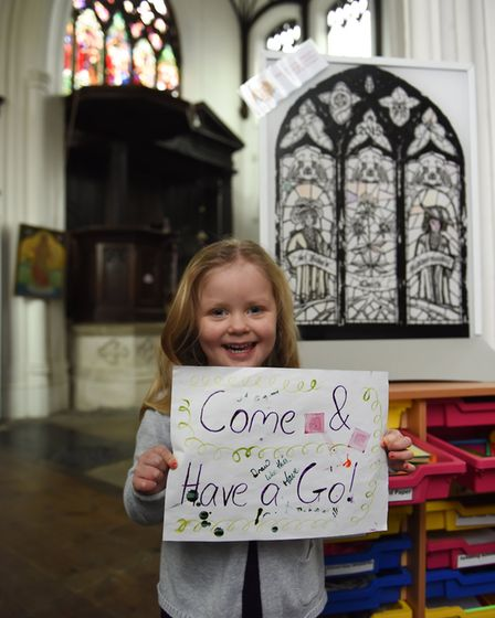 Come and have a go at Flintspiration. Inside St John Maddermarket. Photograph: Norwich Historic Chur