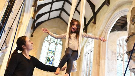 Come-and-try circus skills sessions will be held at St Michael Coslany church as part of Flintspirat