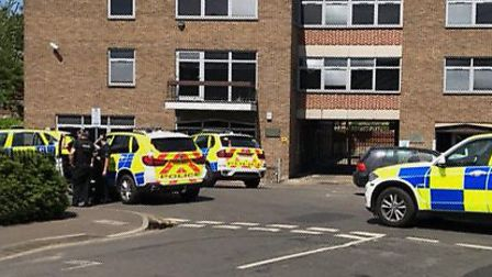 Incident involving a gun on Cathedral Street. Photo: Supplied