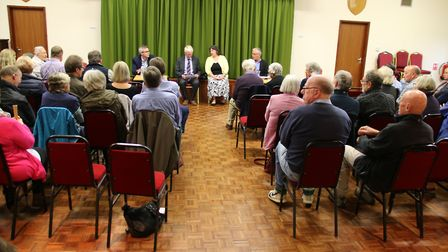 Almost every seat was taken at the hustings meeting in Southrepps, the first of the campaign in Nort