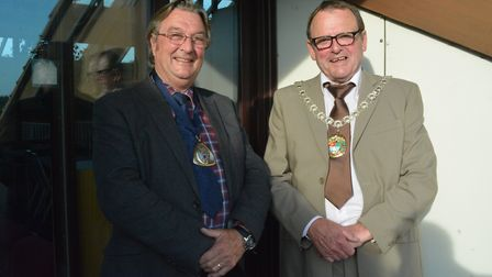 New chairman Richard Shepherd, right, and new vice-chairman Roy Reynolds: Pictures: Andreas Yiasimi