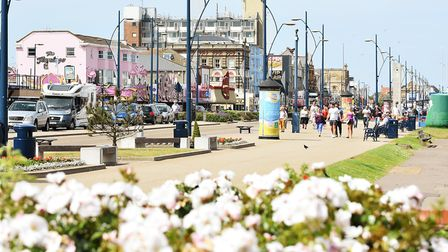 The Golden Mile in Great Yarmouth on a warm and sunny afternoon. Picture: James Bass
