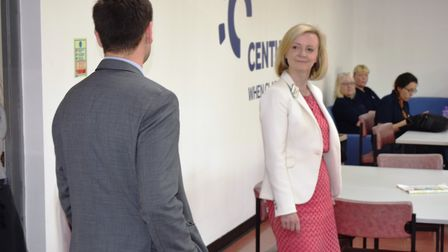 Justice secretary and South West Norfolk Conservative parliamentary candidate Elizabeth Truss visits