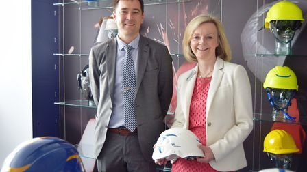 Justice secretary and South West Norfolk Conservative parliamentary candidate Elizabeth Truss with C