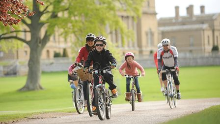 Cyclists at the Pedal Norfolk Cycling Festival on the Holkham Estate. Picture: Ian Burt