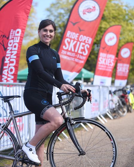 Pedal Norfolk on the Holkham Estate. Pictured is Sky Sports cycling expert Orla Chennaoui. Picture: