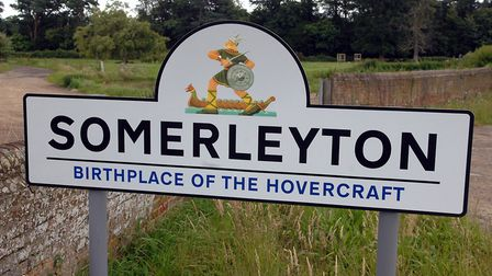 Somerleyton sign. Photo: Bill Darnell Copy: Chris Hill For: EDP Archant © 2007 (01603) 772434