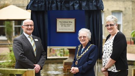 The official opening of The Collison Wing at Bilney Hall Care Home. Pictured are (from left) CEO Gor