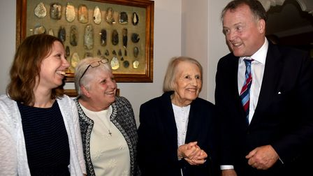 Lord Iveagh at the Elveden Inn where Betty Grundon, widow of the late Russell Grundon, gifted his co