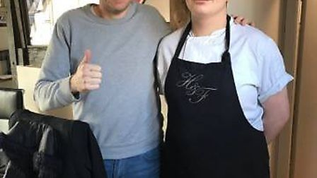 Dominic Lee with Tom Kerridge at Hand and Flowers restaurant in Marlow. Picture: Courtesy of East Co
