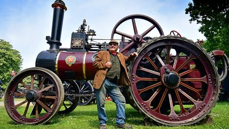 Strumpshaw Steam Rally this year celebrates 25 years. Bob Pumfrey with his 1914 Ruston Proctor tract