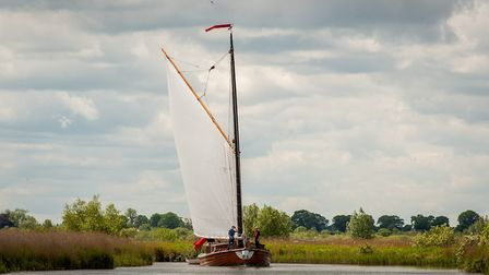 Pleasure wherry Ardea which is part of special anniversary events this Bank Holiday weekend. Picture