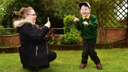 Oliver Whittington,6, has made great progress since his operation last year and is now able to walk