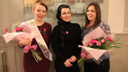 Miss Cromer 2017, Phoebe Susan Chambers, is pictured with last year's Carnival Queen, Joanna Annison