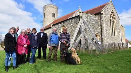 Members of the Friends of Gissing Church. The church, which is renowned for its beautiful ceiling an