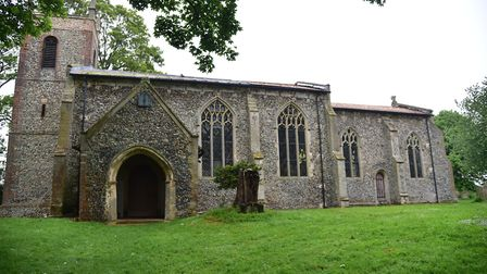 St Marys Church in Carleton Forehoe. The 15th century church is one of many Norfolk churches which h