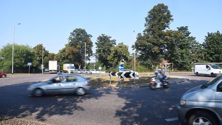 Sweet Briar Road roundabout in Norwich. Picture: Ian Burt