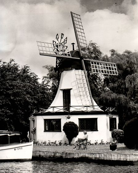 Horning windmill in 1955. Photo from Archant Library.