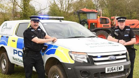 Operation Randall was set up by police, to crack down on crime. Pictured are (L) Special Inspector K