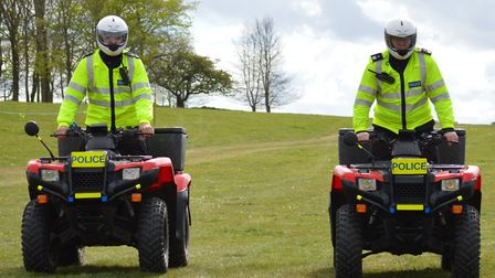 Norfolk police's rural specials at the East Anglian Game and Country Fair 2017.
