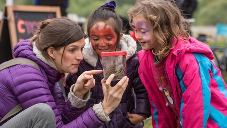 The Wild about the Wensum family event at Pensthorpe Natural Park. Special guest Jess French Photo :