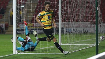 Ricky van Wolfswinkel last goal for Norwich sealed a League Cup win at Rotherham. Picture: Paul Ches