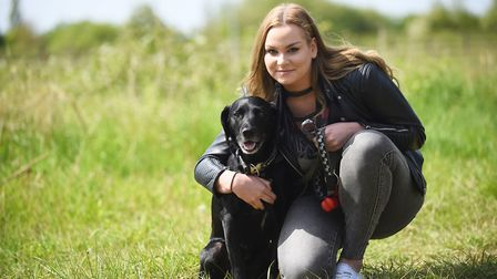 Abbie Divers with her dog Wally. Picture: Ian Burt
