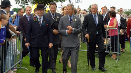 Royal Norfolk Show 2004 at the Norfolk Showground - H.R.H. The Prince of Wales at the show with Joh