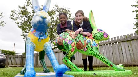 Launch of the new GoGoHares at White Woman Lane School, Old Catton, Norwich. Monique Oulare and Lydi