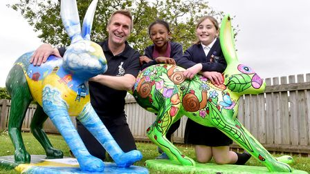 Launch of the new GoGoHares at White Woman Lane School, Old Catton, Norwich. GoGoCreate project coor